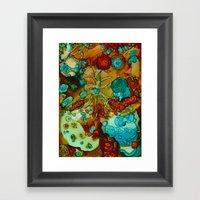 Flora Beginnings Abstrac… Framed Art Print