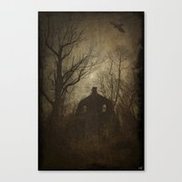 Horror House Canvas Print