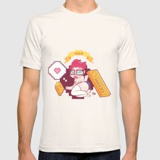Babes & Videogames  Mens Fitted Tee Natural SMALL