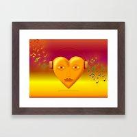 FOR THE LOVE OF MUSIC 038 Framed Art Print