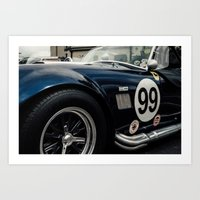 Shelby Cobra Racing Styl… Art Print