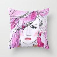Charlotte Free Throw Pillow