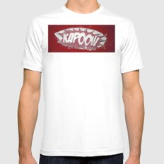 kapoow White SMALL Mens Fitted Tee