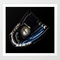 Glove And Ball Art Print