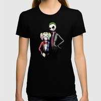 Suicide Nightmare Squad Fine Art Print Womens Fitted Tee Black SMALL