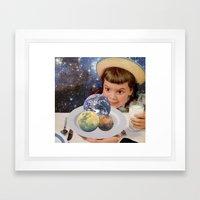 Planet Eater Framed Art Print