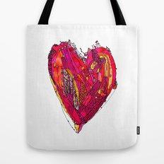 Funky Heart Tote Bag