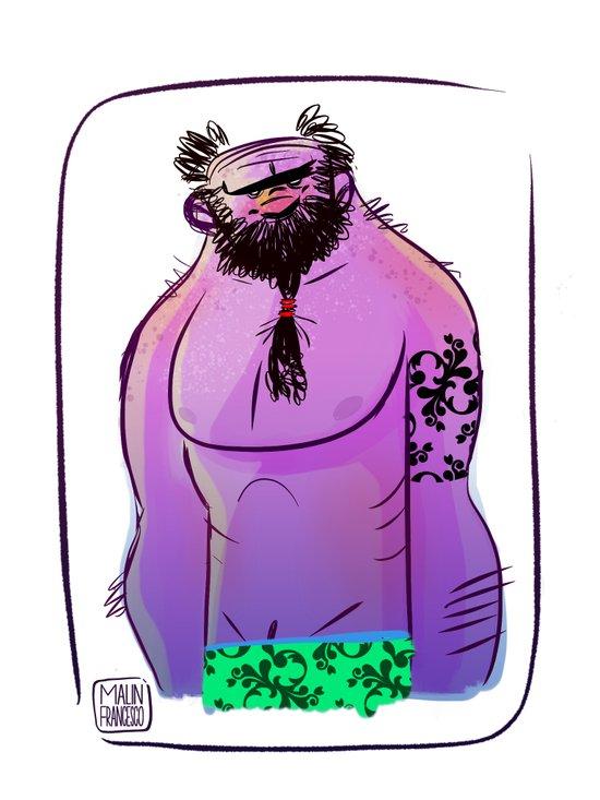 Hawaii troll Art Print