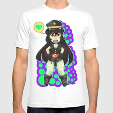 Lili The Cyclops Mens Fitted Tee White SMALL