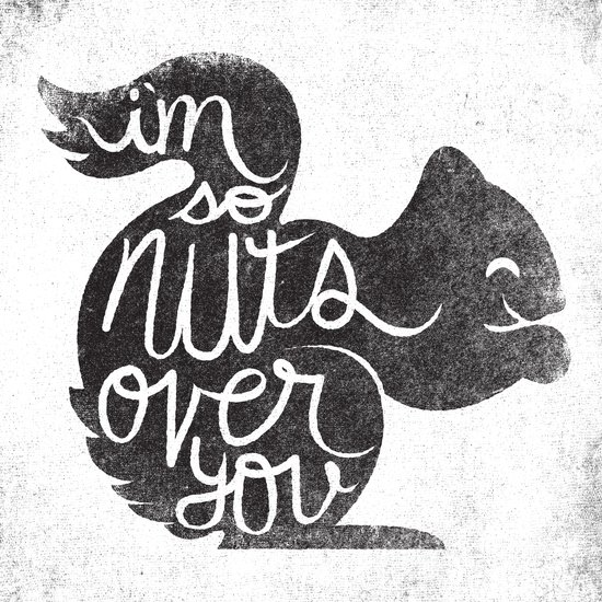 I'M SO NUTS OVER YOU Art Print