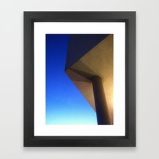 The sky has corners Framed Art Print