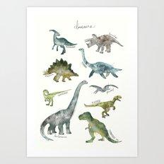 Dinosaurs Art Print