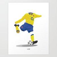 Arsenal 2003/04 Away - The Invincibles Art Print