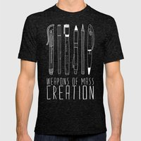 Weapons Of Mass Creation (on grey) Mens Fitted Tee Tri-Black SMALL