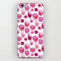 Fancy Pink Flowers iPhone & iPod Skin