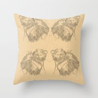 Chignon Throw Pillow