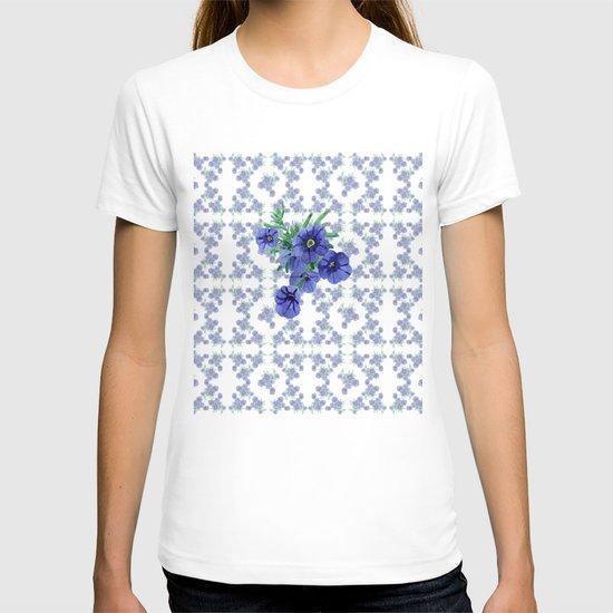Violet Flowers Pattern T-shirt