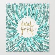 Treat Yo Self – Gold &… Canvas Print