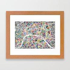 A Map Of Paris Framed Art Print