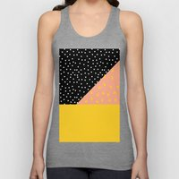 Peach Fuzz Black Polka D… Unisex Tank Top
