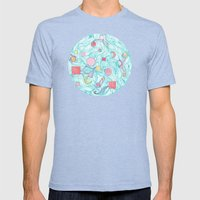 Cosmic Orb Mens Fitted Tee Tri-Blue SMALL