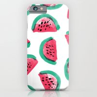 Painted Watermelon Pattern iPhone 6 Slim Case