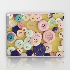 Vintage Buttons  Laptop & iPad Skin