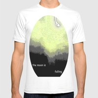 Falling Moon Mens Fitted Tee White SMALL