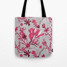Fuchsia Cradle Flora Tote Bag