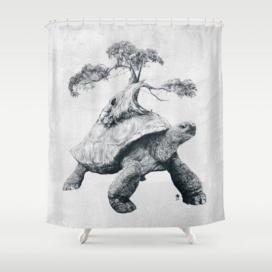 Tortoise Tree - Growth Shower Curtain