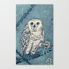 Winter Snowy Owl Canvas Print