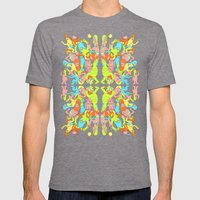 Partay Mens Fitted Tee Tri-Grey SMALL