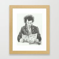 ANALOG zine - Sid Vic Framed Art Print