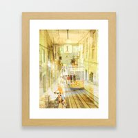 Memories from Lisbon Framed Art Print