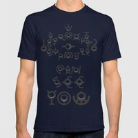 #201 UNOWN Mens Fitted Tee Navy SMALL