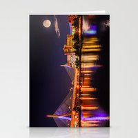Moon Light Over Zakim Br… Stationery Cards