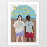 Art Print featuring Pulp Fiction by Mexican Zebra