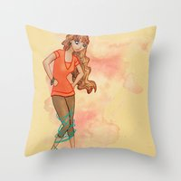 Tangled Trouble Throw Pillow