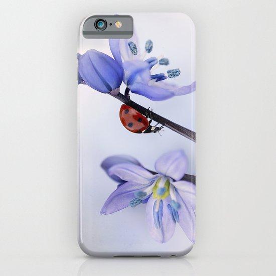 Ladybird on purple flower iPhone & iPod Case