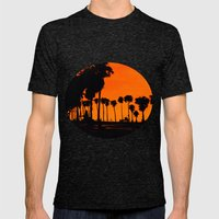 Sunset Mens Fitted Tee Tri-Black SMALL