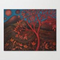 Autumn painting Canvas Print