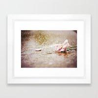 Flower Splash  Framed Art Print