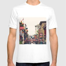 San Francisco China Town White Mens Fitted Tee SMALL