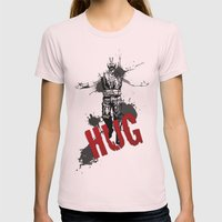 HUG Womens Fitted Tee Light Pink SMALL