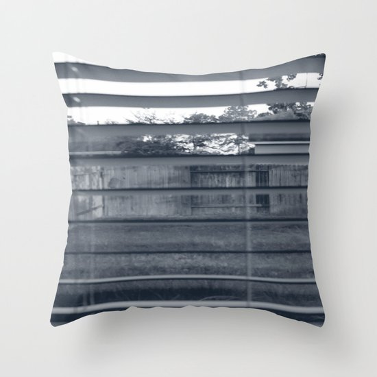 Black & White Background Throw Pillow