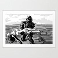 Black Lagoon (B&W)... Art Print