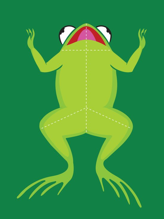 Knife the frog Art Print