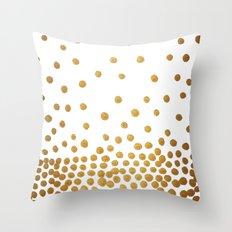 Gold Bubbles Throw Pillow