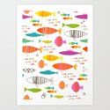 Rainbow Fish Print Art Print