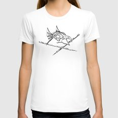 Dead Man`s bird Womens Fitted Tee White SMALL